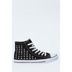 Tally Weijl Black Stud High Sneakers
