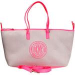 Dámská šedo-růžová podlouhlá kabelka DKNY