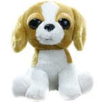 Rappa Plyšový pes 20 cm - hnědobílá