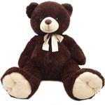 Rappa Plyšový medvěd 80 cm TMAVĚ HNĚDÝ - dle obrázku