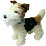 Mix hračky Plyšový pes foxterier 24 cm - dle obrázku