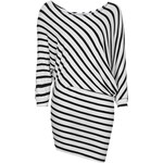Topshop **Contrast Stripe Asymmetric Dress by Rare