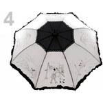 Stoklasa Dámský vystřelovací deštník s volánkem (1 ks) - 4 bilo-černá