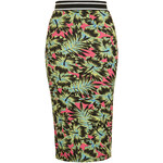 Topshop Tropical Print Tube Skirt