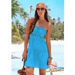Plážové šaty BEACH TIME (vel.38 skladem) 38 tyrkysová Dopravné zdarma!
