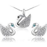 Roxi Hravá souprava náhrdelníku a náušnic s motivem labutě