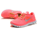 Nike FREE RUN+ 3 Hot Pink Punch Reflective Silver Sol Volt
