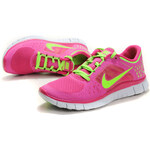Nike FREE RUN+ 3 Rose Bengal Volt Green