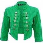 Made in Italy Zelené bolerko s knoflíčky