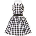 Topshop **Black And White Gingham Dress by Rare