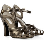 Marc Jacobs Leather Sandals with Flared Heel
