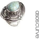 ASOS CURVE Festival Stone Ring - Blue