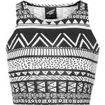 Topshop **Tribal Print Tight Crop Top by Illustrated People