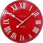 Designové nástěnné hodiny 3083ro Nextime v anglickém retro stylu 35cm