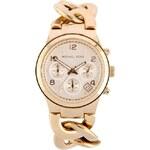 Dámské hodinky z pozlacené oceli Michael Kors Runway Twist