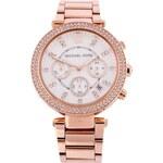 Dámské hodinky z pozlacené oceli Michael Kors Parker