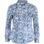 Modrá květovaná džínová košile Vero Moda Vera