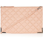 Topshop Quilted Metal Corner Clutch Bag
