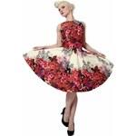 TEA DRESS květované šaty nad kolena insporované padesátými léty