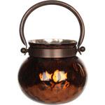 Casa Vivante Stojan na svíčku Kito Copper Shiny, 13 cm