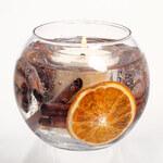 Stoneglow Kulatá svíčka Botanical, skořice a pomeranč
