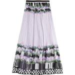 Alberta Ferretti Silk Chiffon Printed Maxi Skirt