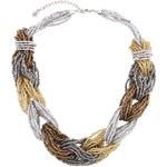Metalický proplétaný náhrdelník Pieces Jukky