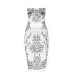 BOOHOO Slonovinové šaty s předním květinovým potiskem Ava