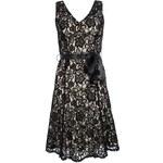 QUIZ LONDON Krajkové černé šaty s páskem