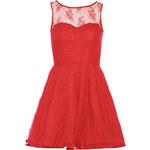 TFNC Červené taneční vzorované šaty
