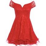 TFNC Červené šaty skater střihu