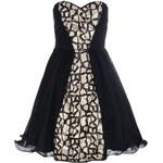 QUIZ LONDON Plesové šaty s černo-zlatým panelem