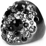 LA FEMME Velký prsten s různobarevnými krystaly