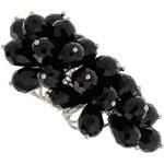 LA FEMME Prsten s černými korálky