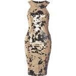 TFNC Černo-zlaté flitrové šaty Ester