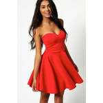 BOOHOO Červené šaty Polly