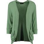 LA FEMME Elegantní kardigan v zelené barvě