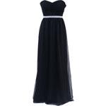 DP Černé plesové šaty s ozdobným pasem