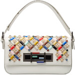 Fendi Embellished Leather Baguette Shoulder Bag