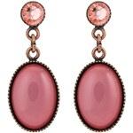 Konplott ALIEN CAVIAR Ohrringe pink/orange antique copper