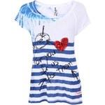 Bílo-modré pruhované tričko Desigual Betsi