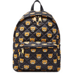 Moschino Quilted Backpack with Teddy Bear Print