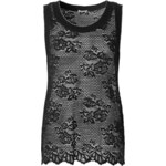 Intimissimi Lace Tank-Top with Ribbed Fabric Edging