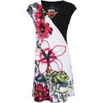 Černo-bílé šaty s květinami Desigual Vest