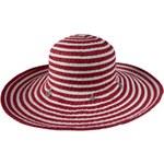 Tonak Dámský slaměný klobouk - červeno-bílý 30353-G13-GT05 AKCE
