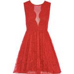 TFNC Krajkové červené šaty Jolly
