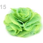 Stoklasa Brož Ø9 cm růže (1 ks) - 15 zelená sv.
