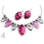 Stoklasa Náhrdelník a náušnice sada PALERMO (1 sada) - 4 růžová malinová