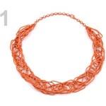 Stoklasa Náhrdelník kovový víceřadý (1 ks) - 1 oranžová dýňová