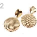 Stoklasa Kovové náušnice kruhové (1 pár) - 2 zlatá